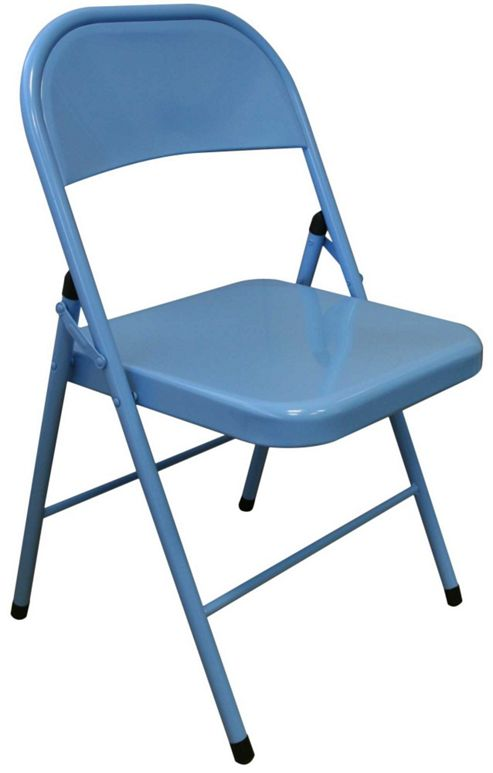Buy Sky Blue Metal Folding Chair Folding fice puter Desk Chair from