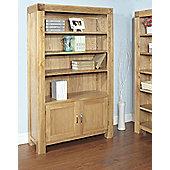 Ametis Santana Blonde Oak Bookcase with Cupboard