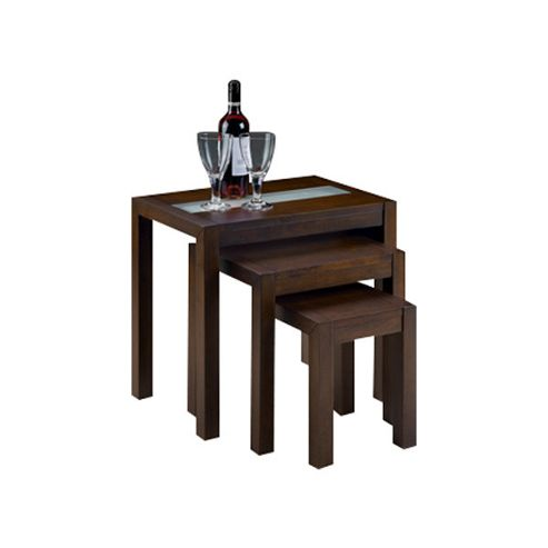 Julian Bowen Santiago Nest of Tables in Wenge Finish