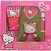 Hello Kitty Pink Love Gift Set 50ml Body Lotion + 20g Bath Fizzer + 4.5g Lip Balm