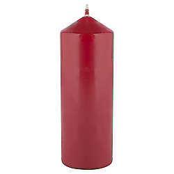 Tesco Basic Red Unfragranced Pillar Candle 200 x 70
