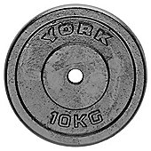 York Fitness Y Cast Plate 10kg - Single