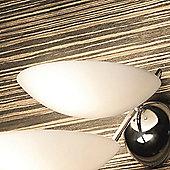 De Majo Girasole Glass in Chrome - Two Bulbs
