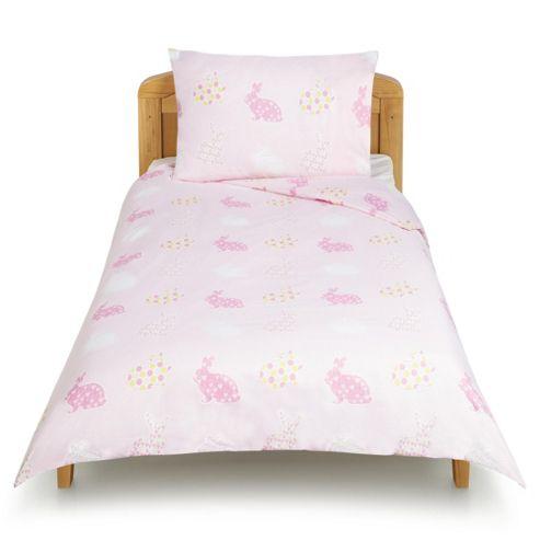 buy tesco bunny toddler duvet set from our all baby. Black Bedroom Furniture Sets. Home Design Ideas