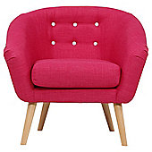 Jemima Tub Chair Pink/Grey Button