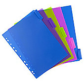 T. Bright PP 5 part subject dividers