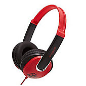 Groov-e GV590RB Kids DJ Style Headphone - Red/Black