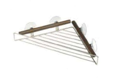 Möve Combo Metals Shower Rack Triangular in Walnut