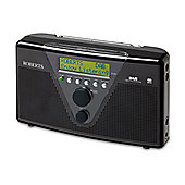 ROBERTS DUOLOGIC DAB/FM PORTABLE RADIO WITH BATTERY CHARGING (BLACK)