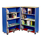 Twoey Toys Hinged Bookcase with Four Shelves - Multi Coloured