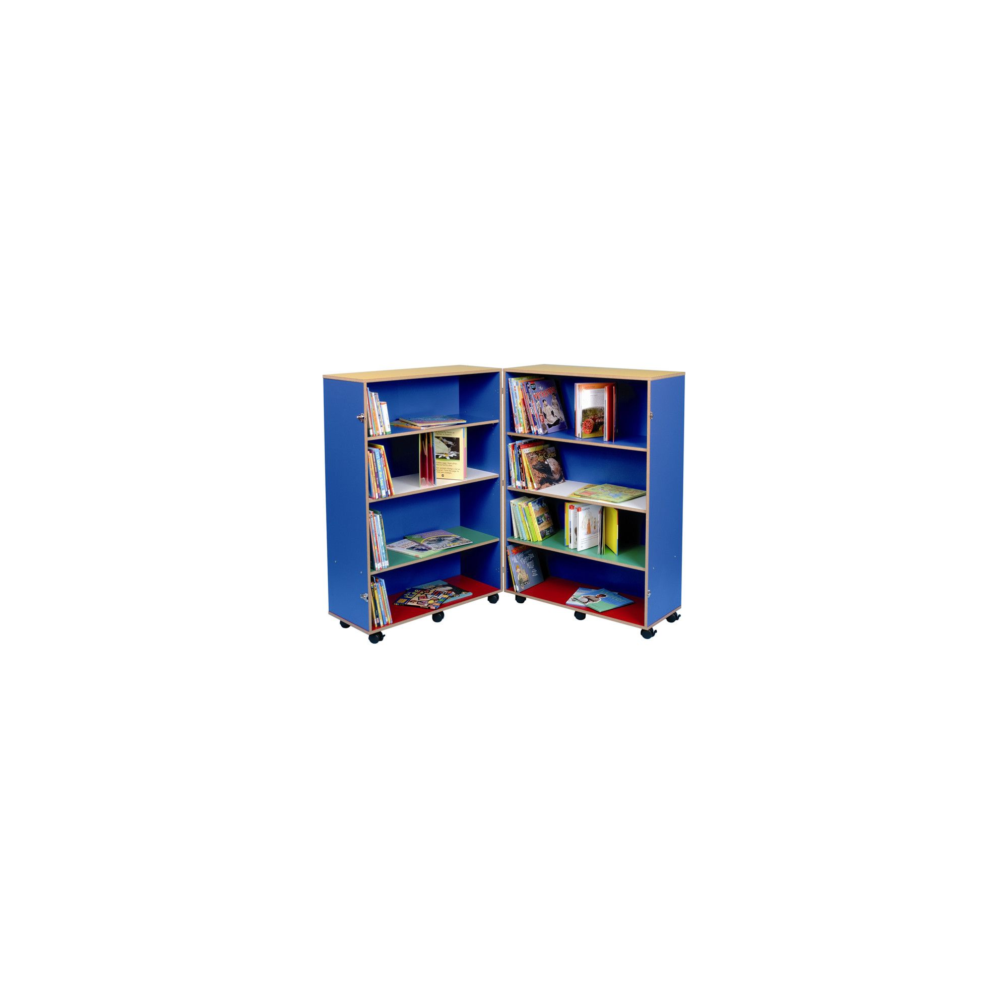 Twoey Toys Hinged Bookcase with Four Shelves - Multi Coloured at Tesco Direct