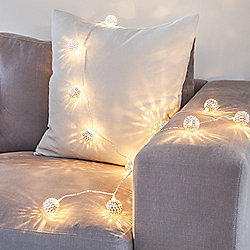 16 LED Silver Tangier Indoor LED Fairy Lights
