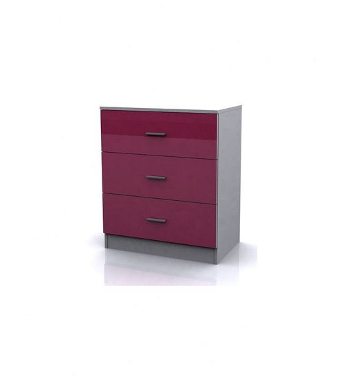 Altruna Alina Three Drawer Chest - Pink