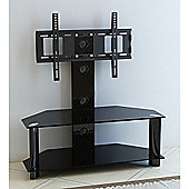 Glass Universal TV Stand With Bracket For LED LCD Plasma 32 - 46 inches - Black