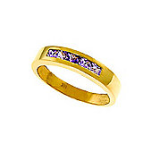 QP Jewellers 0.60ct Amethyst Princess Prestige Ring in 14K Gold