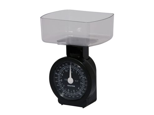 Salter 114Bkcldr Kitchen Scale+Bowl Black 5Kg