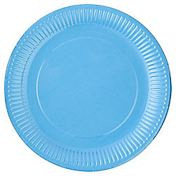 TESCO BRIGHT BLUE PAPER PLATE 24CM 8 PACK