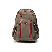 TRP0256 Troop London Classic Medium Canvas Backpack Brown