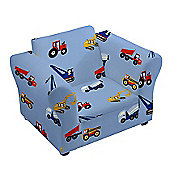 Children's Toy Trucks Upholstered Armchair with Curved Arms