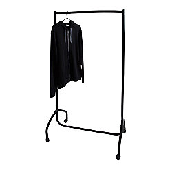 Pristine Sturdy Black Clothing Rail on Wheels