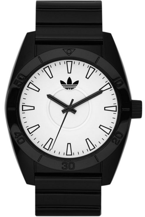 Adidas Mid-Size Santiago Black Rubber Strap Watch ADH2715