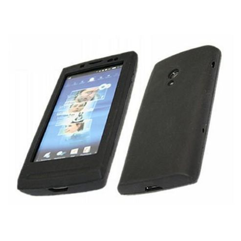 iTALKonline SoftSkin Silicone Case Black - For Sony Ericsson X10 Xperia