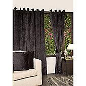 KLiving Eyelet Verbier Lined Curtain 90x90 Black