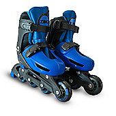 Zinc Adjustable Inline Skates - Blue - Size 13-4