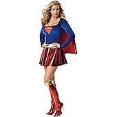 Adult Sexy Supergirl Super Hero Costume Medium