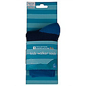Walker Kids Bi-colour Two Colour Everyday Sport Socks - Navy