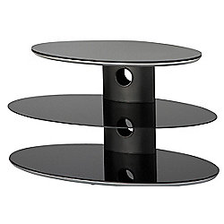Alphason Gradino Black Oval 3 Shelf TV Stand for up to 37 inch