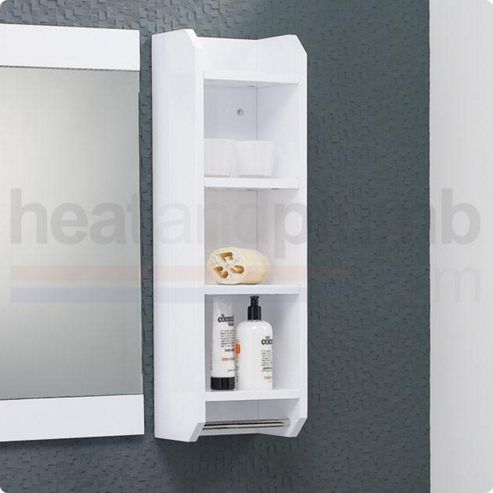 Buy hudson reed ellipse bathroom shelving unit 800mm high for Bathroom cabinets 800mm high