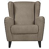 Sophia Wingback Herringbone Occasional Chair, Mink