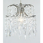 Loxton Lighting 1 Light Diamond Drops Pendant - Chrome