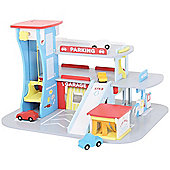 Bigjigs Toys JT106 Heritage Playset City Auto Centre