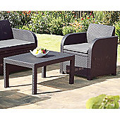 Carolina Graphite Grey Rattan Garden Set with Cushions