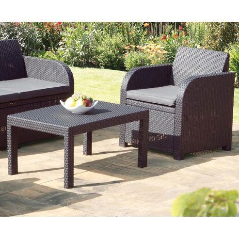 buy carolina graphite grey rattan garden set with cushions. Black Bedroom Furniture Sets. Home Design Ideas