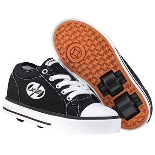 Heelys Jazzy Black and White Skate Shoes - Size 2
