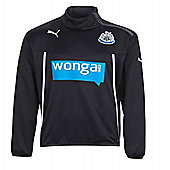 2013-14 Newcastle Puma Half Zip Jacket (Black) - Kids - Black