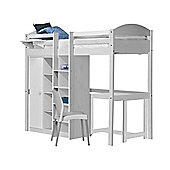 Maximus High Sleeper Set 2 Central Ladder White With White Details