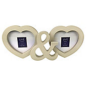 Tesco Heart Multi Two Picture Frame