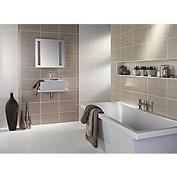 Brighton Truffle Ceramic Wall Tile 248x398mm