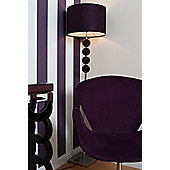 Premier Housewares Mistro Floor Lamp - Purple