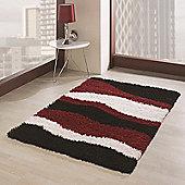 Nordic Sombre Red/Black 80x150 cm Shaggy Rug
