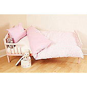 Saplings Gingham Duvet Set - Pink