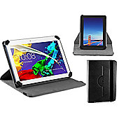 Navitech Black Faux Leather Case Cover With 360 Rotational Stand For The Acer B3-A20B 10-inch Tablet