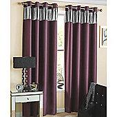 Ibiza Eyelet Blockout Lined Curtains purple - 117X183 cm
