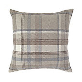 Natural & Grey 43 x 43 Wool Look Woven Check Cushion Cover