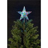 Star Tree Topper with 31 White, Blue, White & Green Digital LEDs