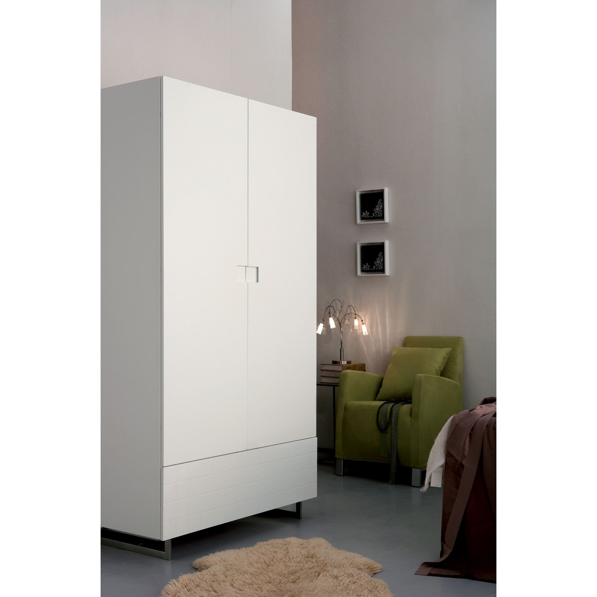 Gillmore Space Barcelona Wardrobe - White Lacquer (Matt) at Tesco Direct